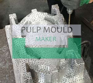 drill suction holes for pulp mould